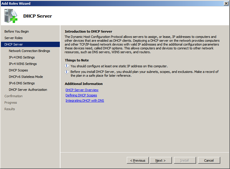 Computer Networkiing - Lesson 8: Installing a DHCP Server